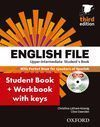 ENGLISH FILE UPPER-INTERMEDIATE: STUDENT'S BOOK WORK BOOK WITH KEY PACK (3RD EDI