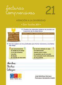 LECTURAS COMPRENSIVAS 21