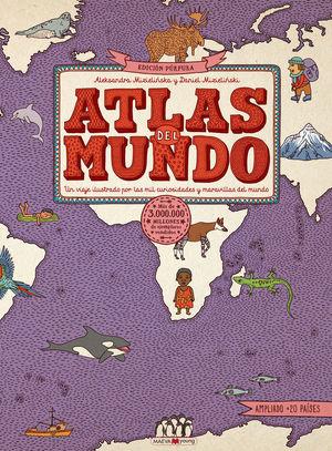 ATLAS DEL MUNDO.EDICION PURPURA.(LIBROS PARA AMAN LIBROS)