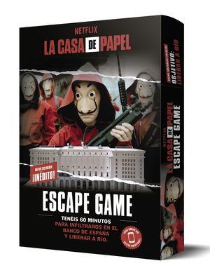 LA CASA DE PAPEL. ESCAPE GAME. OBJETIVO: LIBERAR A RIO