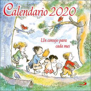 CALENDARIO PARED UN CONSEJO PARA CADA MES 2020