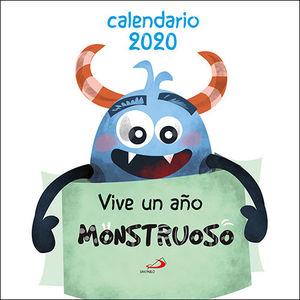 CALENDARIO PARED VIVE UN AÑO MONSTRUOSO 2020